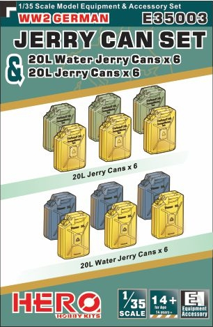 WWII German Jerry Cans (6) & Water Cans (6)