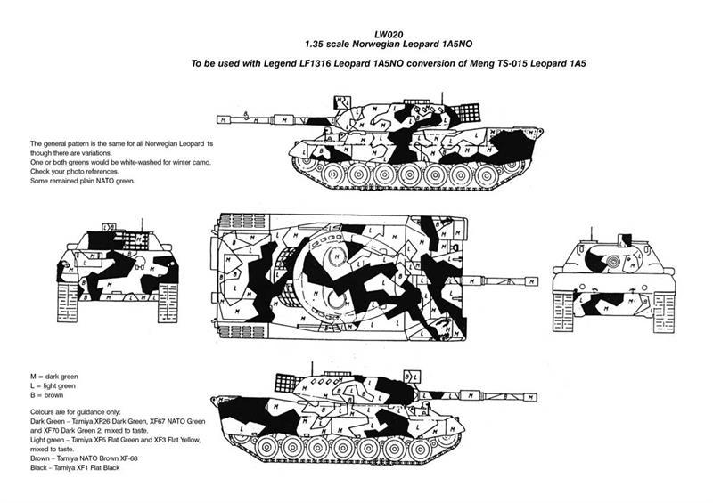 Norwegian Leopard 1a5no Decals